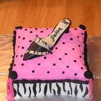 Lots Of Firsts This was my first pillow cake, cream cheese icing, and high heeled shoe!!!! It was for a high school graduation. The cake is marble and the...