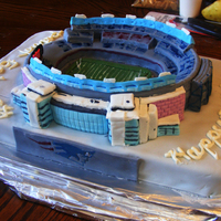 Gillette Stadium Birthday cake for 9 year old New England Patriots fan.
