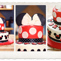 Minnie Mouse! White cake with buttercream icing! fondant and gumpaste accents! Thanks to all the CCer's and their cute ideas!