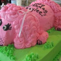 Pink Poodle   Inspired by a cake here in CC. Carved out of a 11x15 sheet.