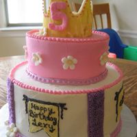 Princess Lexy   I made this to match the birthday girl's invitations for a tea/princess party. All BC with a fondant crown.