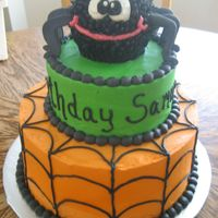Halloween Birhday   This was made to match the party decorations. Royal spider legs, rest is BC.