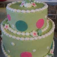 Baby Shower Dots & Spirals   I made this one to match the baby shower invitations. All BC with MMF spirals and flowers.
