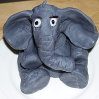 Elephant Made Out Of Fondant Pic 1  ok this is my first ever fondant figure - I had made fondant for the first time about 2 months ago and had some left over that I thought I...