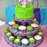 Babys 2Nd Birthday! Pink And Green Ruffles