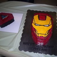 Iron Man Mask And Light Up Talking Smash Cake
