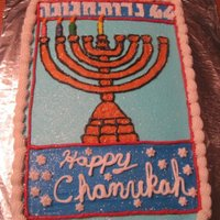 Chanukah Candle Box Cake