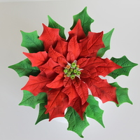 "Christmas Poinsettia This is a 8"" poinsettia perfect for Christmas season."