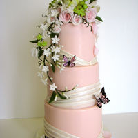 Traditional Elegance - Flowers And Butterflies I was so happy when I was asked to make a cake with flowers, butterflies and the color pink. What a classic combination, and a great...