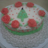Wilton Decorating Basics Final Cake Final Project Cake for Wilton Decorating Basics Class Dec 2010. It was a few weeks from Xmas so figured I would put some twist to my design...