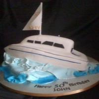 Yacht Cake Hand carved lemon cake with lemon curd buttercream.