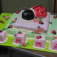 Ladybug Baby Shower Cake This is a Ladybug cake i made for my SIL's baby shower. It was my very first specialty cake. I made a Chocolate cake with banana...