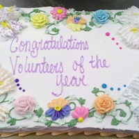 Pastel Flowers   Full sheet cake iced in buttercream for board of education year ending celebration. Really enjoyed this one, thanks for looking