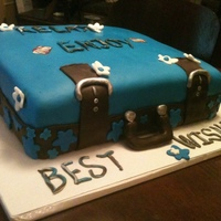 Retirement Cake/suitcase   Retirement suitcase cake