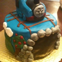 Thomas The Train Birthday Cake   Fondant Thomas The Train Birthday Cake