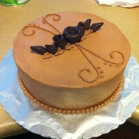 Chocolate Cake With Modeling Chocolate Roses