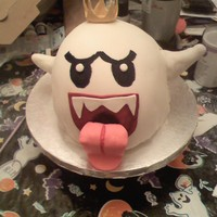 King Boo This was for a 7 year old's birthday. It is King Boo from Mario