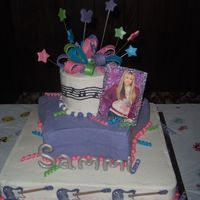 Hannah Montana   This cake was done for a co-workers daughter's 13th Birthday.