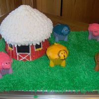 Farm Cake   My sister and I did this cake last time I was home. We had a lot of fun with it.