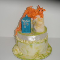 Dr. Who Meets Merlin This cake was for my little sister's 21 birthday. Two of our favorite shows are Dr. Who and Merlin on BBC. The topper is made out of...