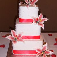 Stargazer Lily   All Buttercream. Gumpaste stargazer lillies. Thanks for looking!!