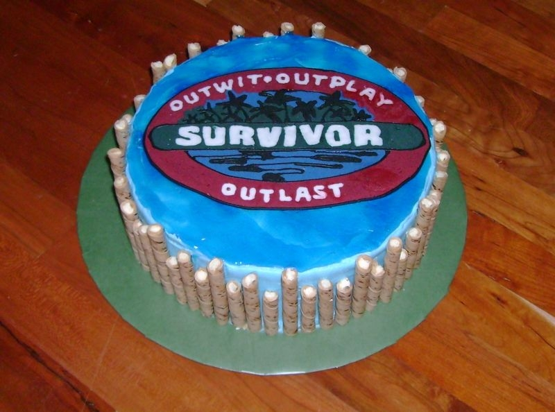 Survivor Party Made this for my niece who had a Survivor themed birthday party. Logo is FBCT, made a colorflow one first...it broke into a million pieces...