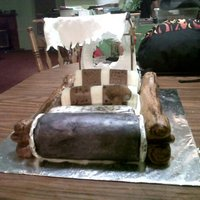 Flintstone Car My friend and I made this for her mom's birthday.