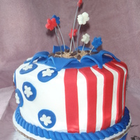 4Th Of July Sanders Fish Fry Cake