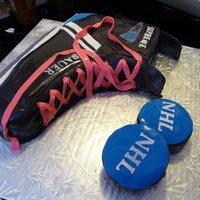 Hockey Skate Birthday Cake