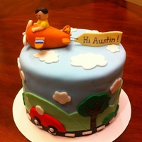 "Airplane/car/truck Theme Baby Cake This was a small 6"" cake for a little brunch we threw for my brother and his girlfriend. It was a combination of different design from..."