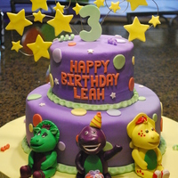Barney Birthday Cake I cannot remember where I saw this design from, but originally it was a Backyardigans cake that I saw online. I just changed up the colors...