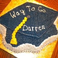 Graduation Cake   Using the Graduation Cap pan