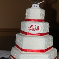 Red And White Wedding Cake Red and White Wedding Cake