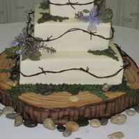 Nature Inspired Wedding Cake