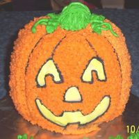 3D Stand Up Pumpkin Wilton 3D pumpkin pan. This was my first attempt at a stand up cake. It was made for my co-workers son's birthday. He loved it and...
