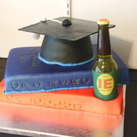 Graduation Cake I did this one for a good friend of mine. I had some of my Industrial Engineering classes with him. He graduated this spring with his IE...