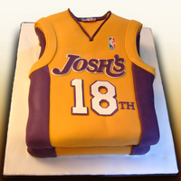 Personlized La Lakers Cake
