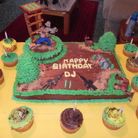 Hunter This was my first decorative cake I did for my friend son. He love to deer hunt and love guns. Hope this pic can help someone else. I think...