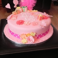 Hollys 1St Birthday girlie and pink what more could a little girl want
