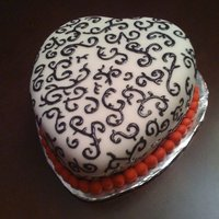 Scroll Heart Chocolate fudge cake, chocolate buttercream for valentine's day!