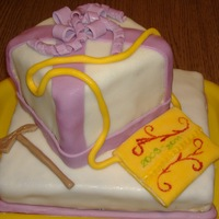 "Graduation Cake For My Daughter Covered and decorated with fondant. Following the Hungarian tradition, I made a haversack and a ""fokos"" (that hammer-like object..."