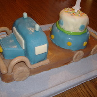Truck Cake My first attempt at a vehicle, for my little son's first birthday. It doesn't look perfectly the way I planned, but after all I...