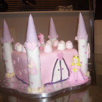 Princess Castle Cake A fairytale cake made for my Daughters 1st Birthday - the first cake I have ever made!