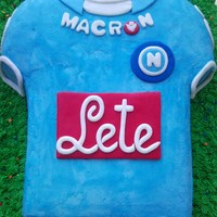 Naples T-Shirt Soccer Team Cake
