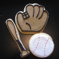 Baseball Cookies Sugar cookies with RI - just playing!