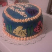 Under The Sea I made this cake for my daughter's Aquatic Science Teacher for her birthday. Triple layer Devils food with White chocolate buttercream...
