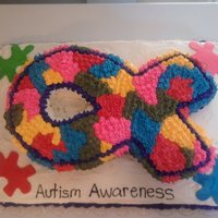 Autism Awareness I made this cake in honor of my son who has Autism for a local hospital to promote Autism Awareness Month (April).