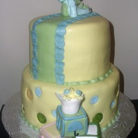 Baby Blocks Cake Chai latte cake with cream cheese filling and cinnamon buttercream.