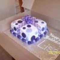 Purple Polka Dot Cake I saw one similar to this and liked it a lot. Did this one for the birthday of a friend...she loves purple!Dairy free icing, and butter...