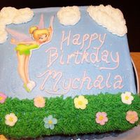 Tinkerbell   tinkerbell is on a fondant plaque